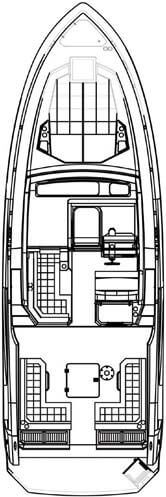 Cruisers Yachts 390 Floor plan