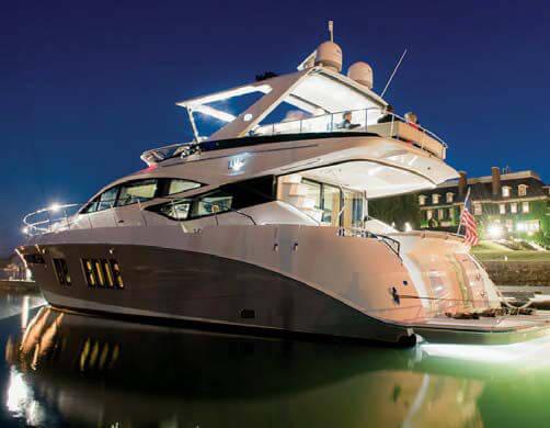 Обзор новой модели яхты Sea Ray L650 Fly