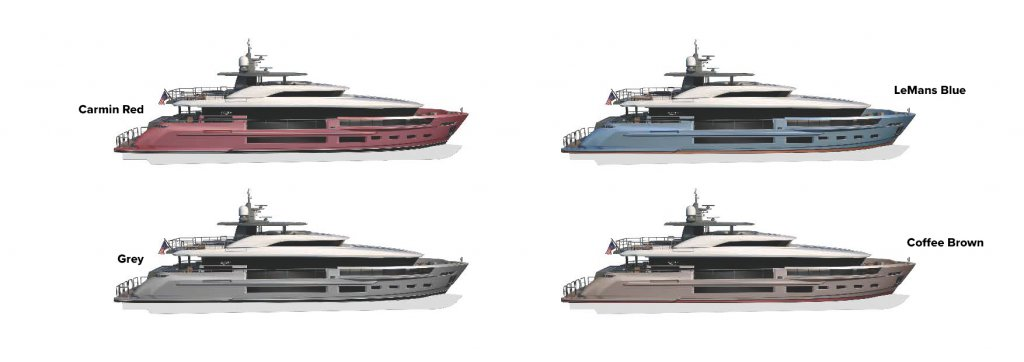 Atlantic 115 Yacht Color options