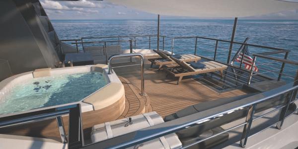 Яхта 115 Атлантик Палуба для загара