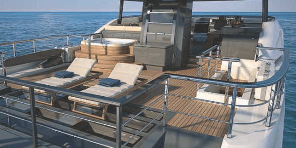 Atlantic 115 Yacht Sun deck