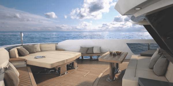 Передняя терраса яхты 115 Атлантик