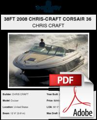 38ft 2008 Chris-Craft Corsair 36 - CHRIS CRAFT - Buy and