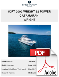 50ft 2002 Wright 52 Power Catamaran - WRIGHT - Buy and sell