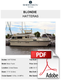 BLONDIE - HATTERAS - Buy and sell boats - Atlantic Yacht and