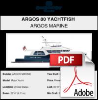 Argos 80 Yachtfish - ARGOS MARINE - Buy and sell boats - Atlantic